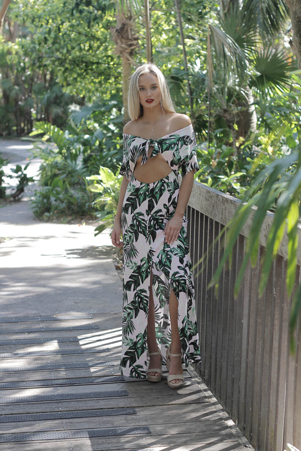 """Layla"" Maxi Dress, Tropical Pink"