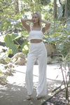"""Natasha"" White Two Piece Set"