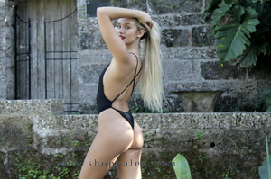 """Amber Black"" One Piece Swimsuit"