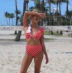Red Polka Dots Swimsuit