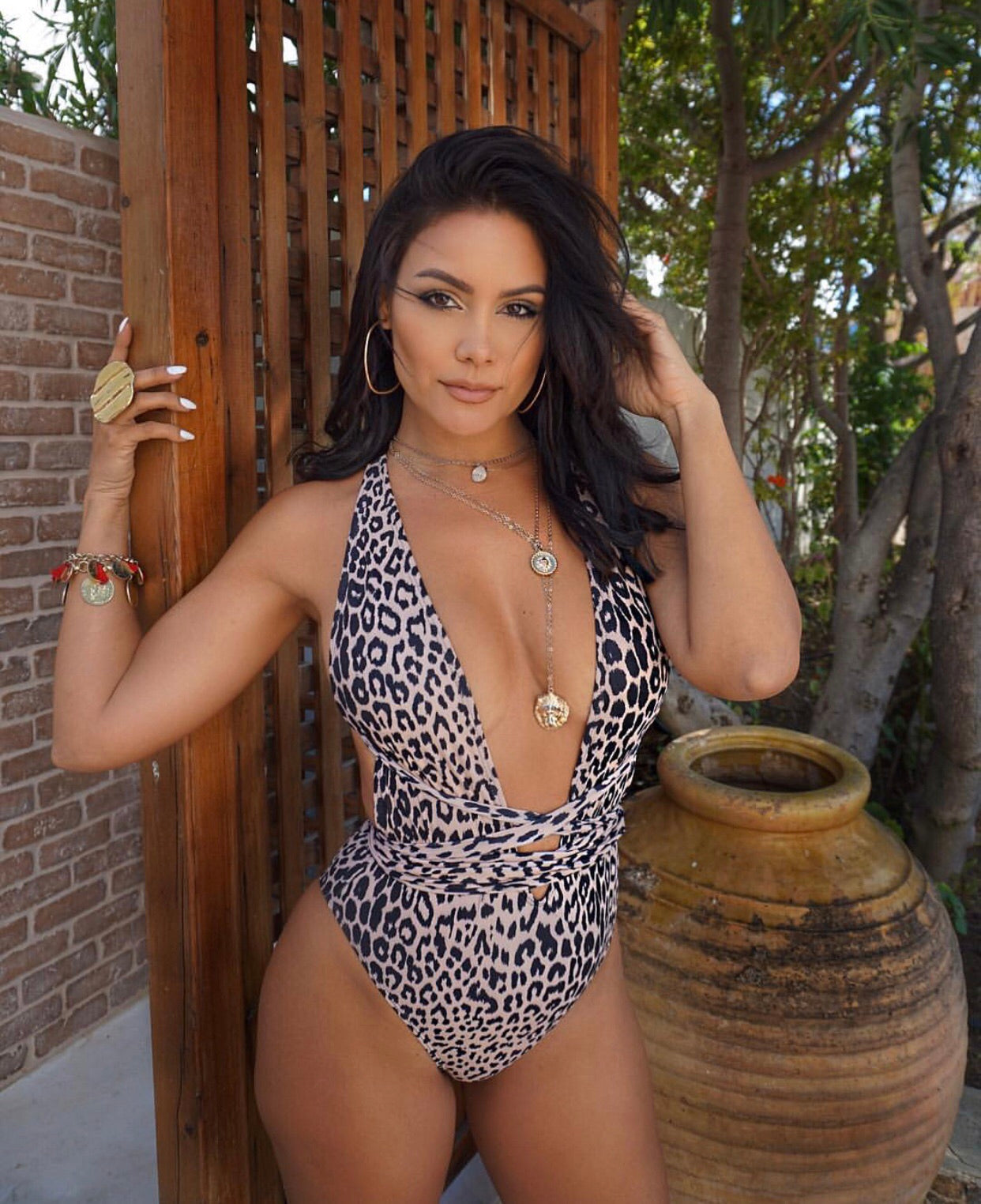 Animal Skin Print Swimsuit