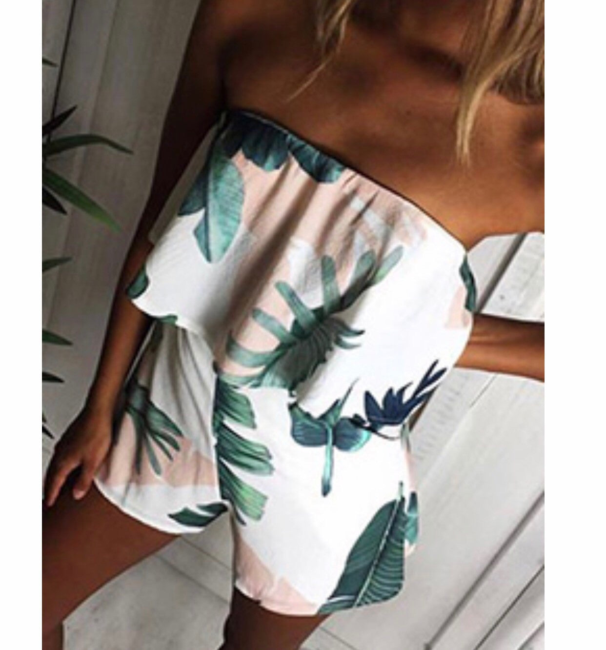 Viviana- Tropical Playsuit