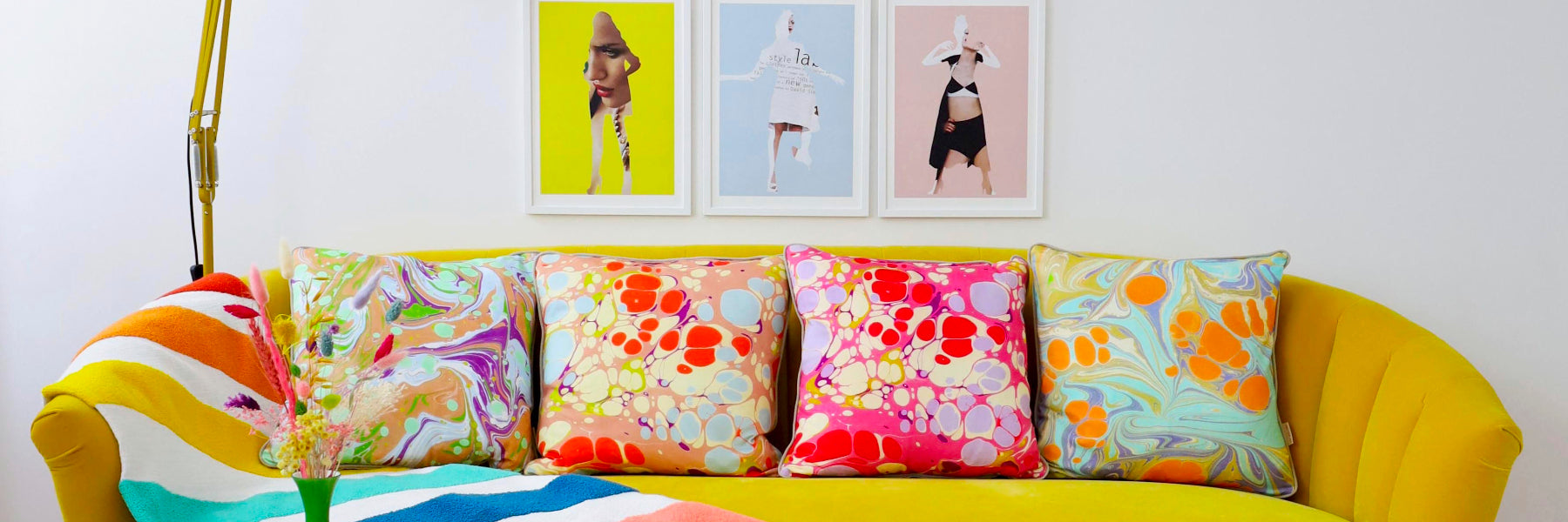 Retro Cotton Cushions by Susi Bellamy