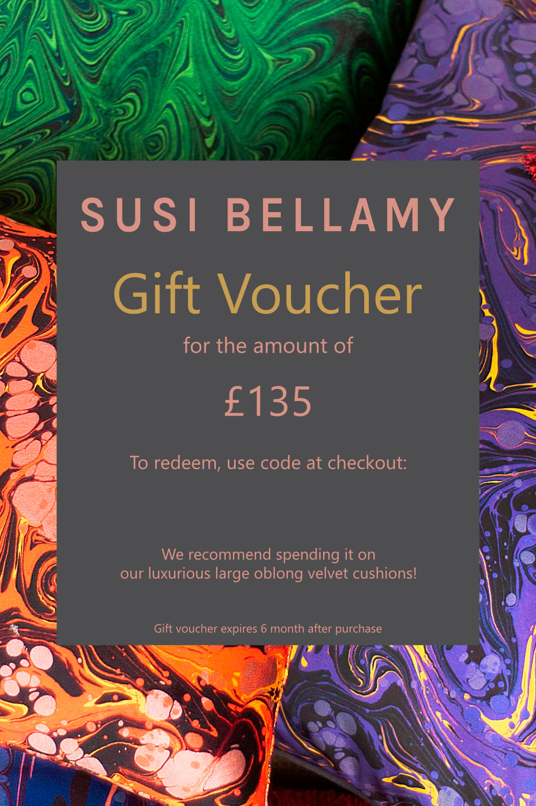 Susi Bellamy Gift Voucher for £135