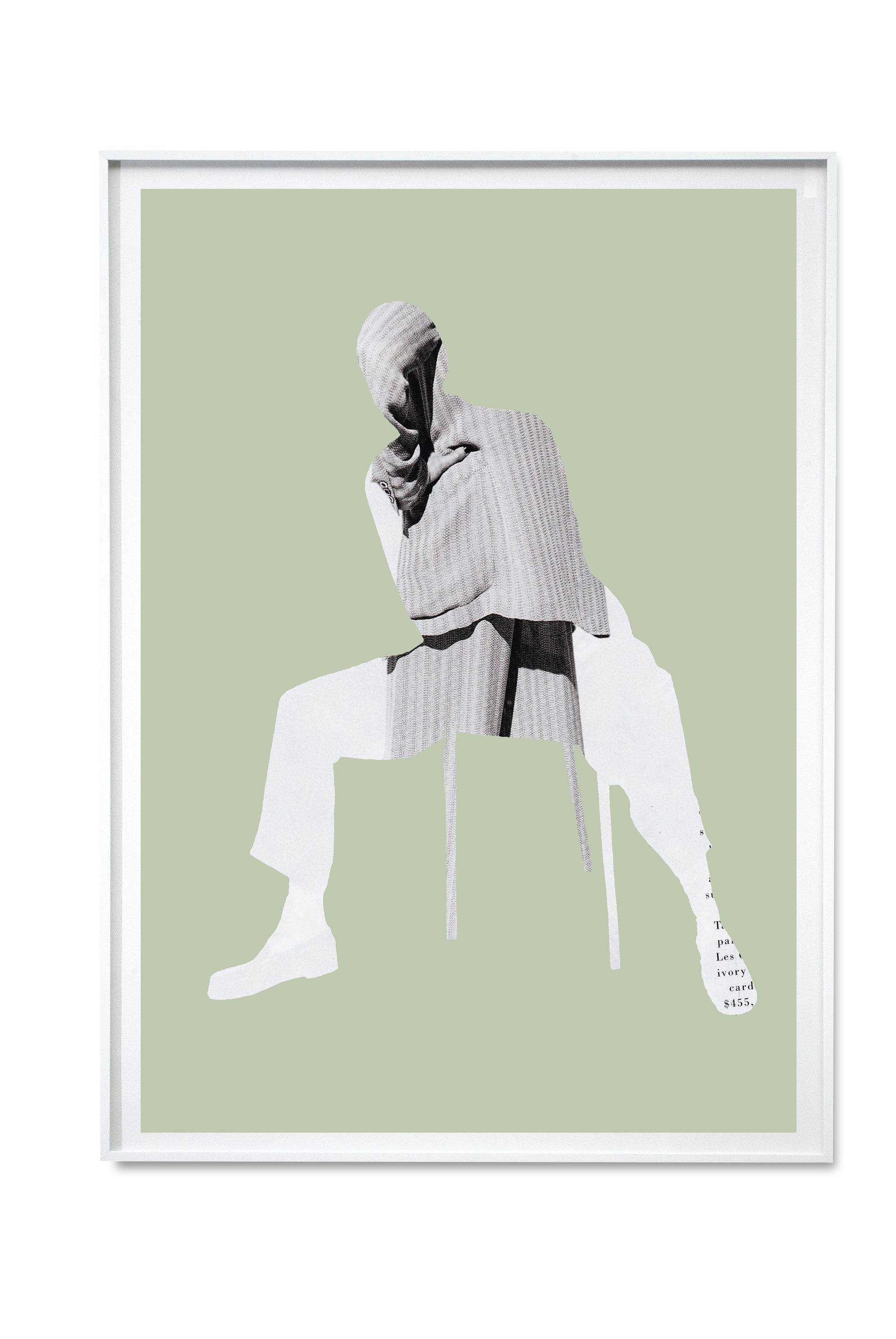 Light Green Seated Digital Print