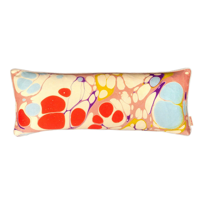 Blobby Marbled Long Oblong Cushion