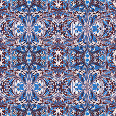 Blue Fantasy Fabric