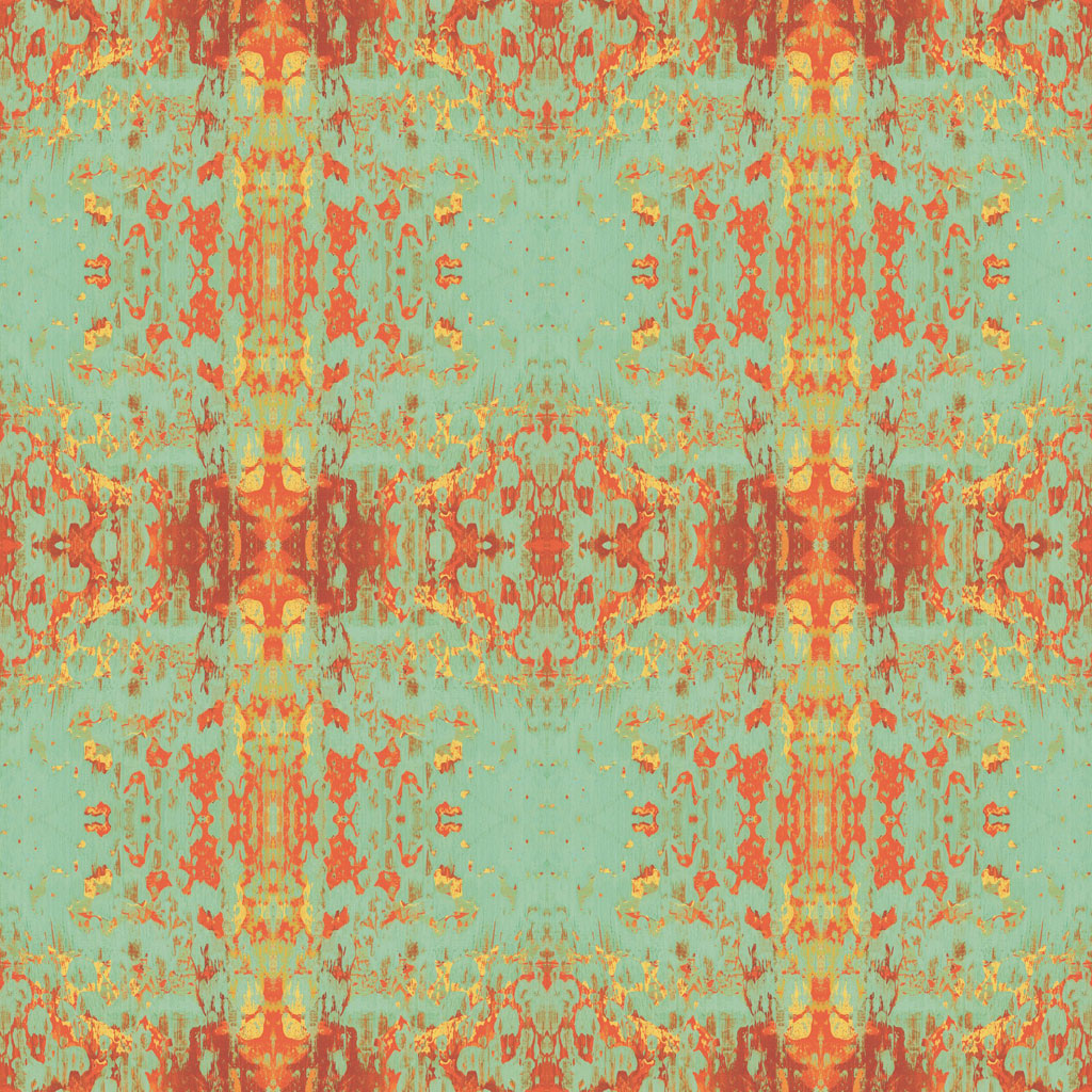green red orange abstract pattern