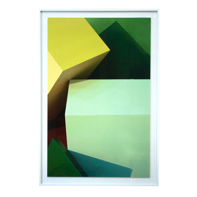Green Blocks Photographic Print