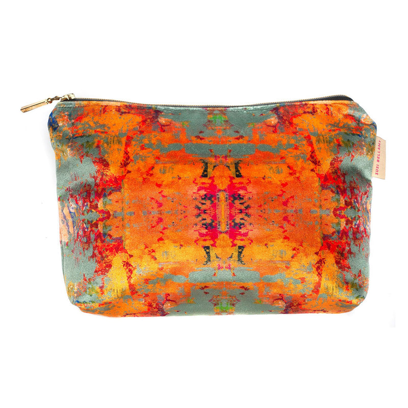 Grey Stucco Kaleidoscope Washbag