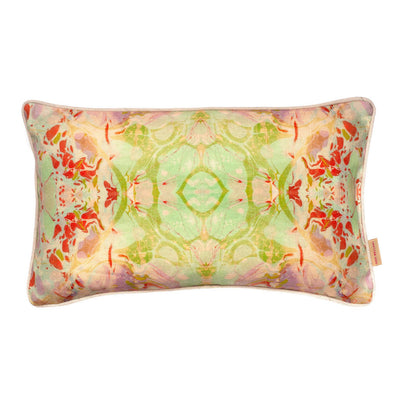 Indian Summer Kaleidoscope Marbled Linen Medium Oblong Cushion