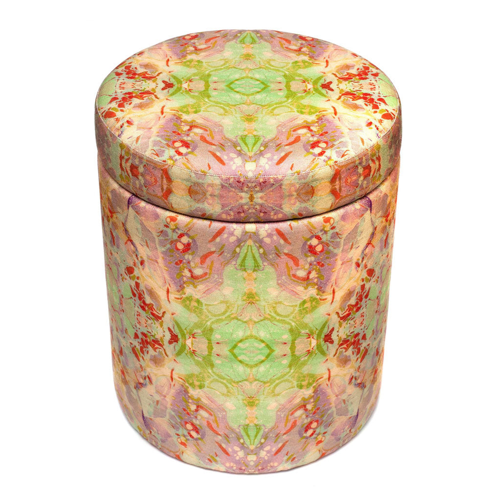 Indian Summer Linen Stool