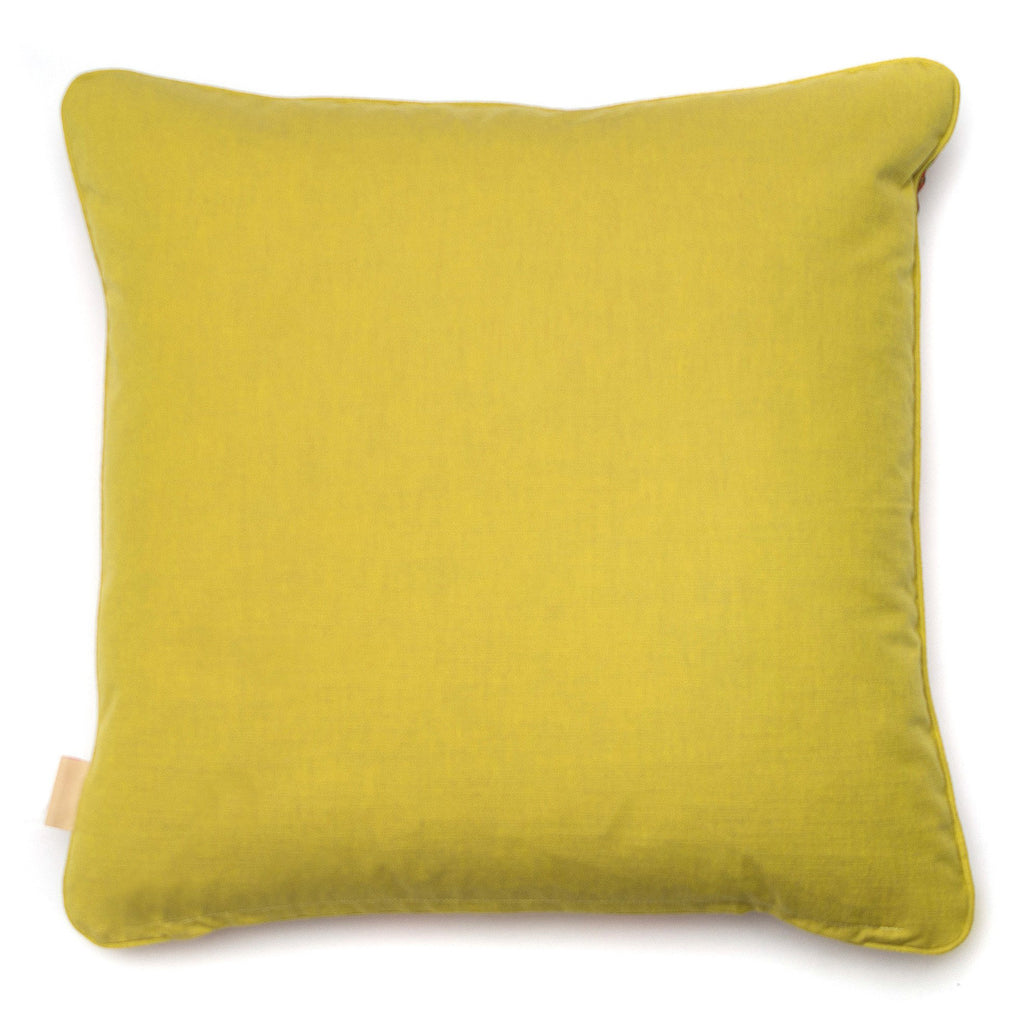 Coral Copse Velvet Square Cushion