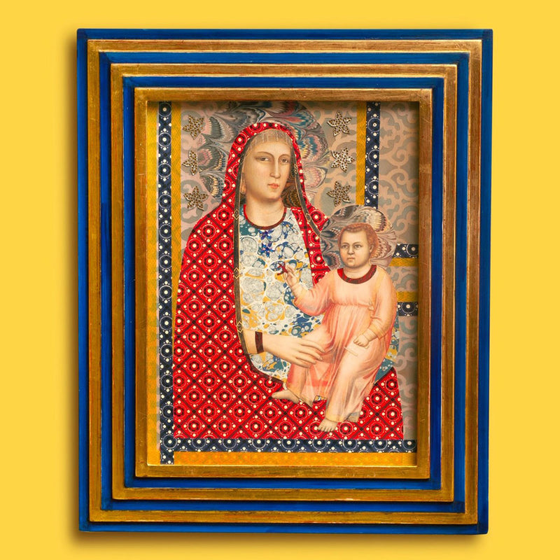 Madonna and Child Collaged Artwork