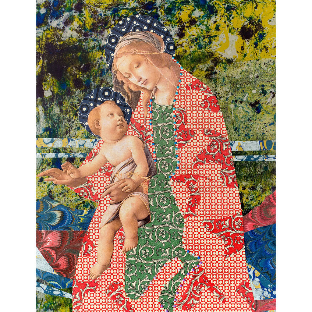 Marbled Madonna Digital Print