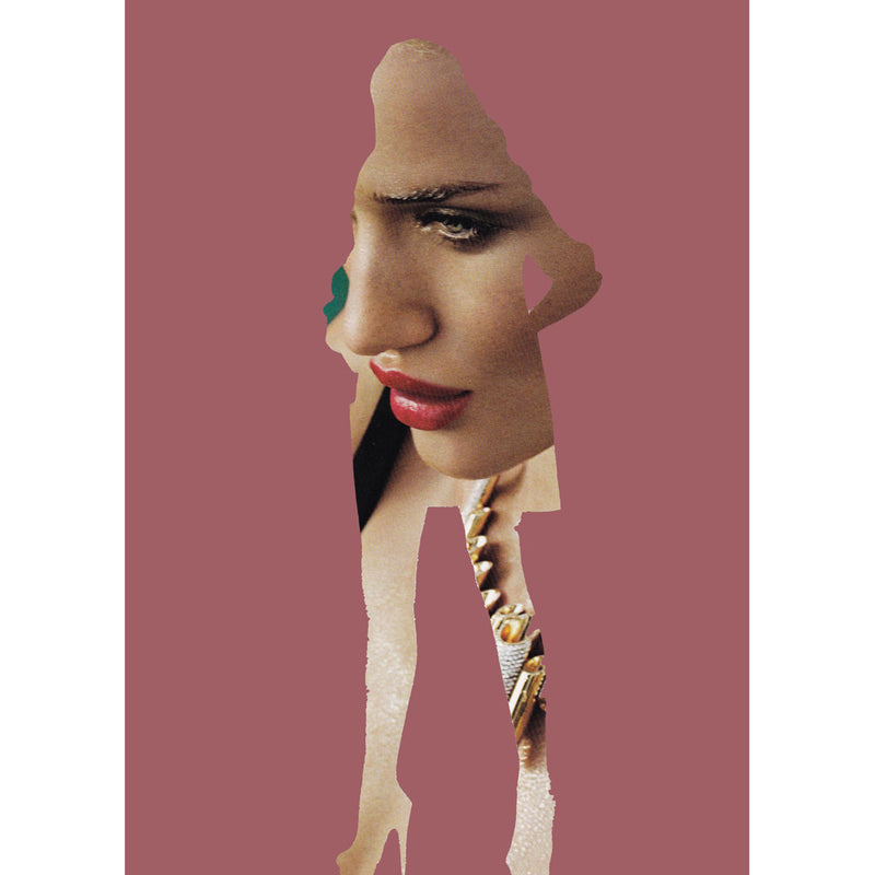 Mulberry Red Lips Digital Print