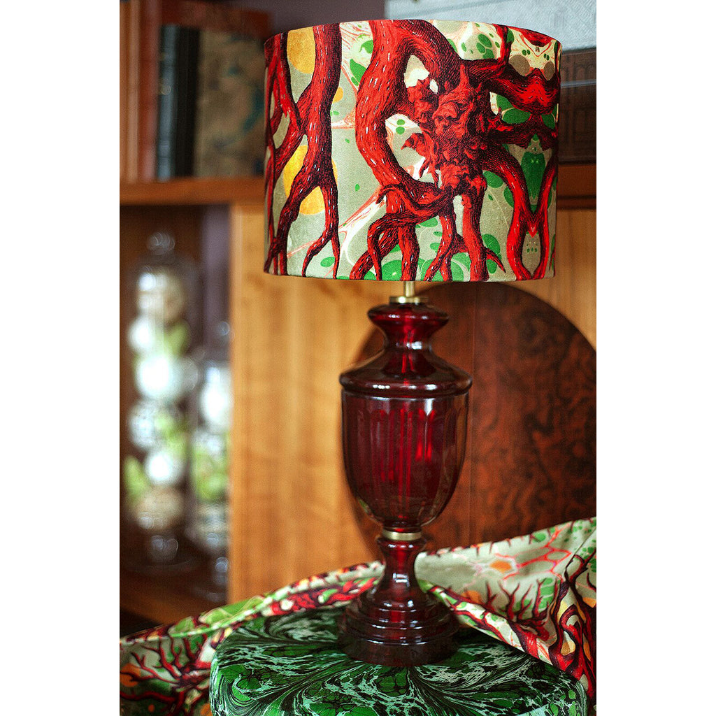 Coral Copse Velvet Lampshade