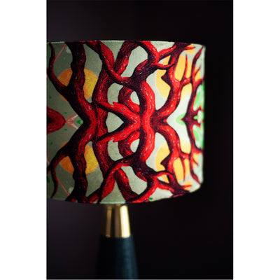 Branched Coral Velvet Lampshade