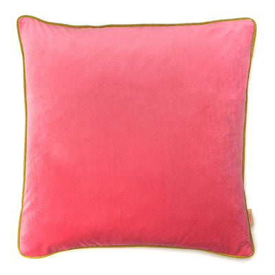 Pale Pink Velvet Square Cushion