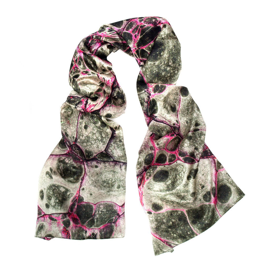 Pietra Nero Wide Long Silk Scarf