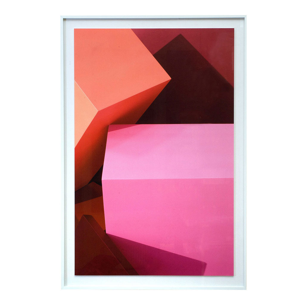 Pink Blocks Photographic Print
