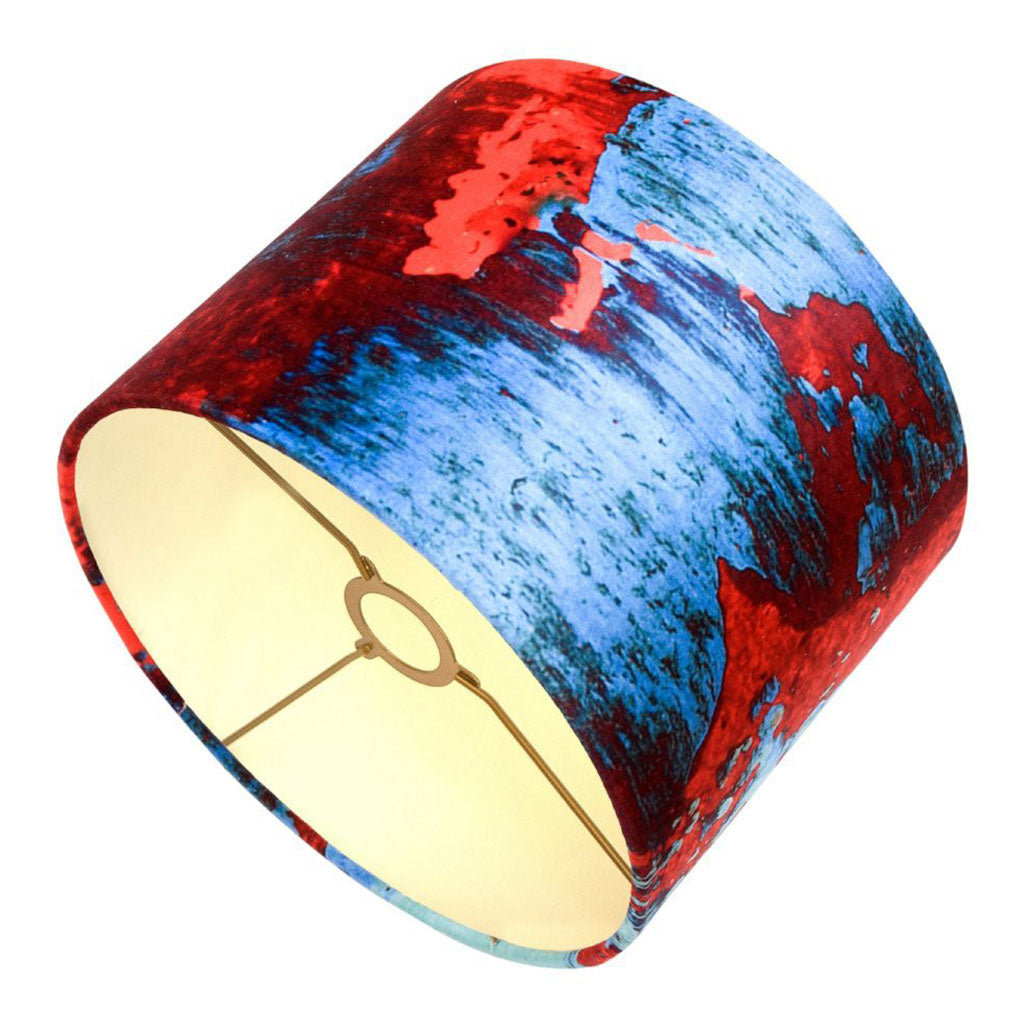 Red Blue Geode Velvet Lampshade