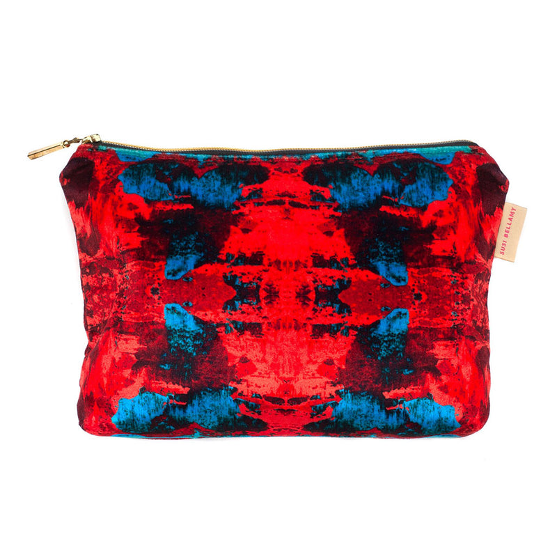 Red/Blue Geode Washbag