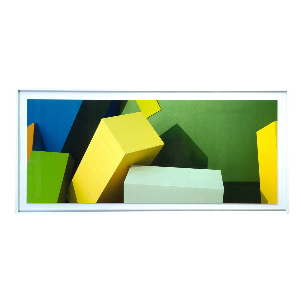 Wide Angle Green Blocks Photographic Print