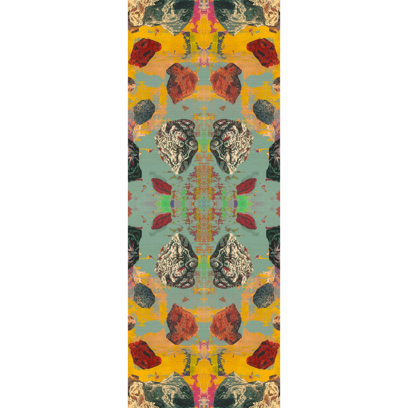 Grey Stucco Pebbles Kaleidoscope Wide Scarf