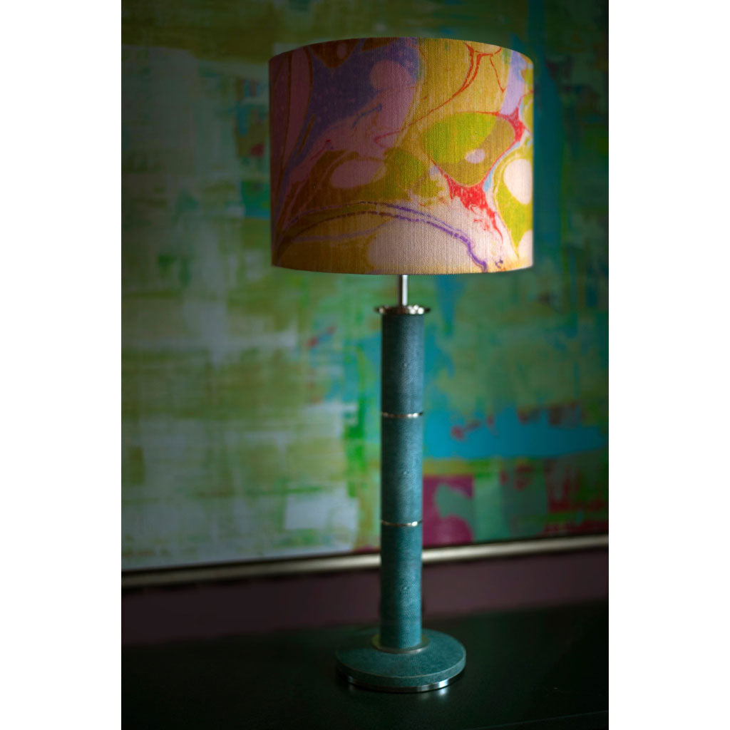 Lavender Tapestry Linen Lampshade