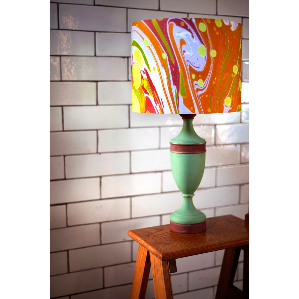 Mustard Slick Cotton Lampshade. Only 1 left