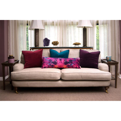 Purple Velvet Square Cushion
