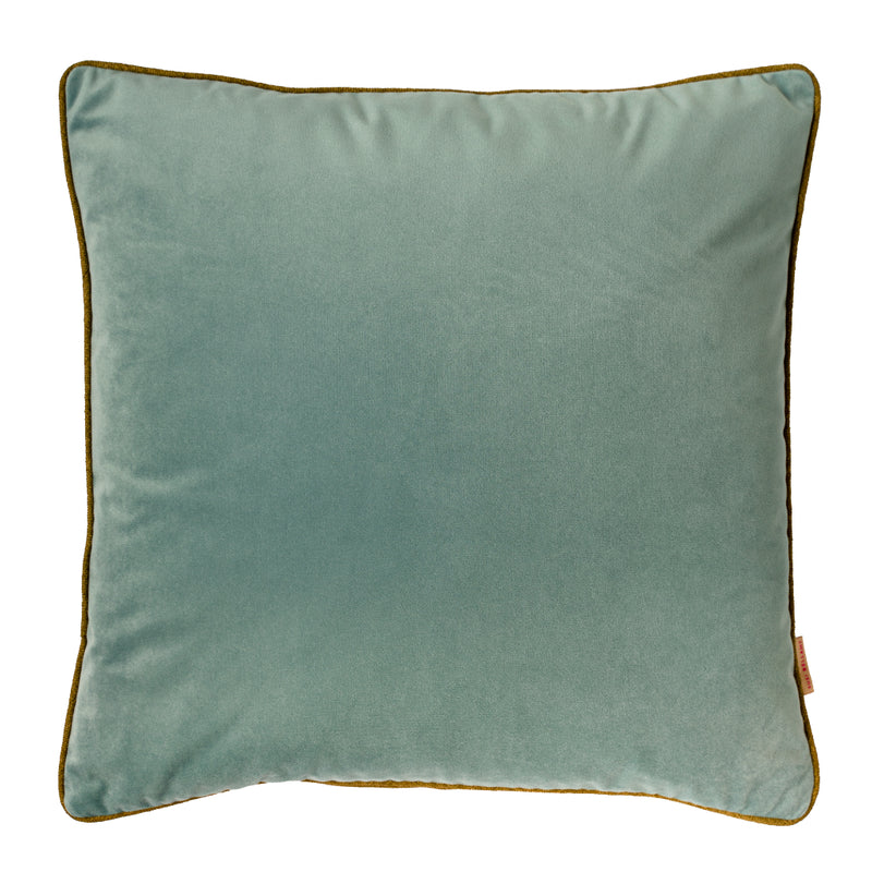 Gelo Verdino Abstract Velvet Square Cushion