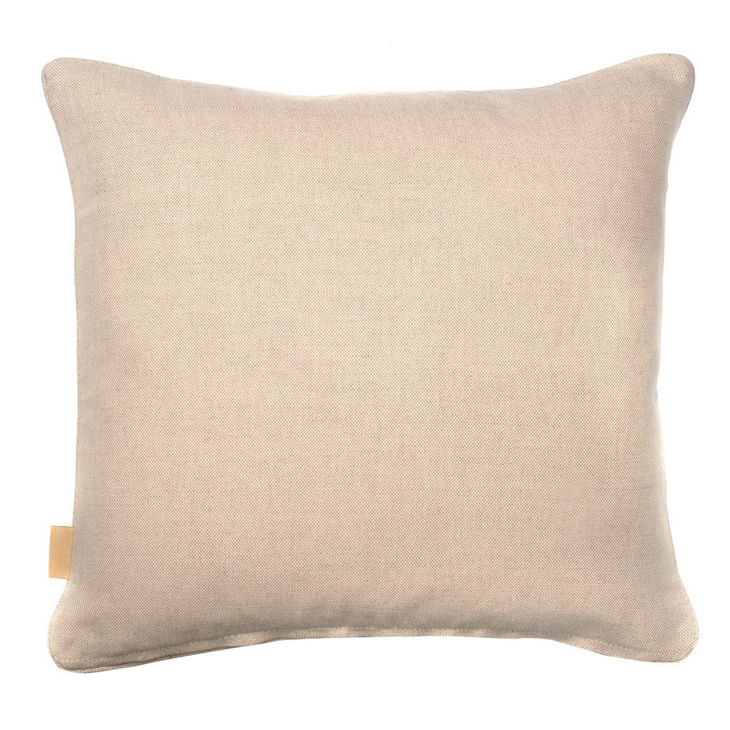 Beige Ripple Kaleidoscope Marbled Linen Square Cushion