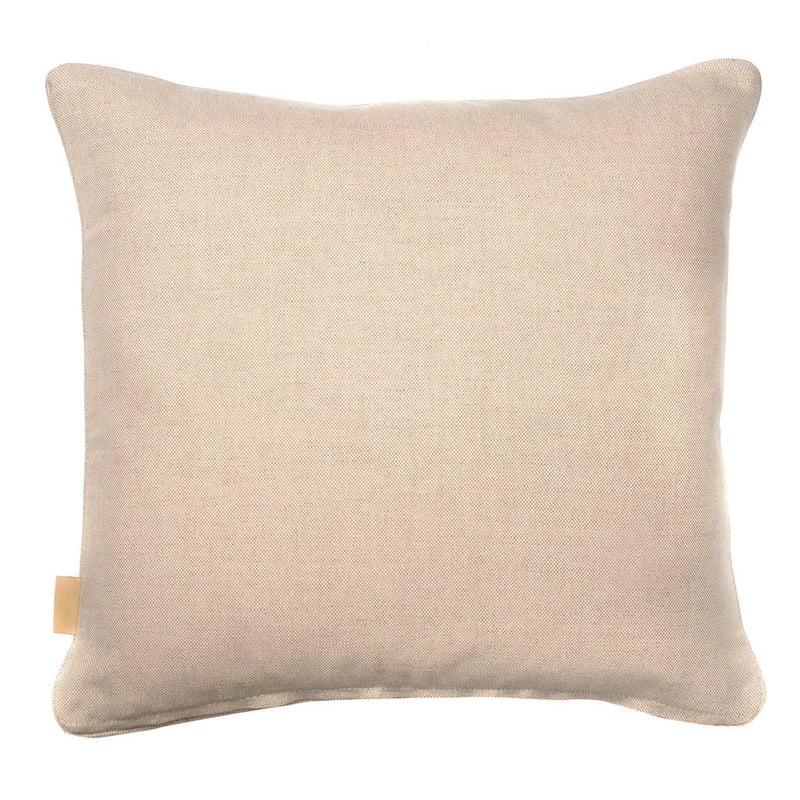 Grey Organic Marbled Cotton Square Cushion