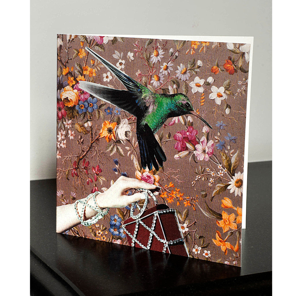 Pack of 4 Bird and Hand Greetings Cards