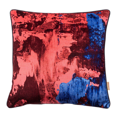 Dusky Pink Geode Velvet Square Cushion