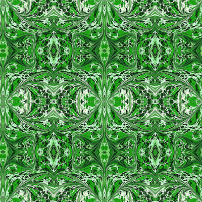 Green Fantasy Fabric