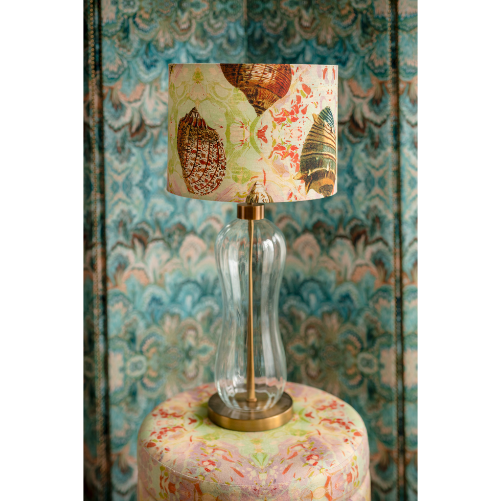 Indian Summer Shells Linen Lampshade