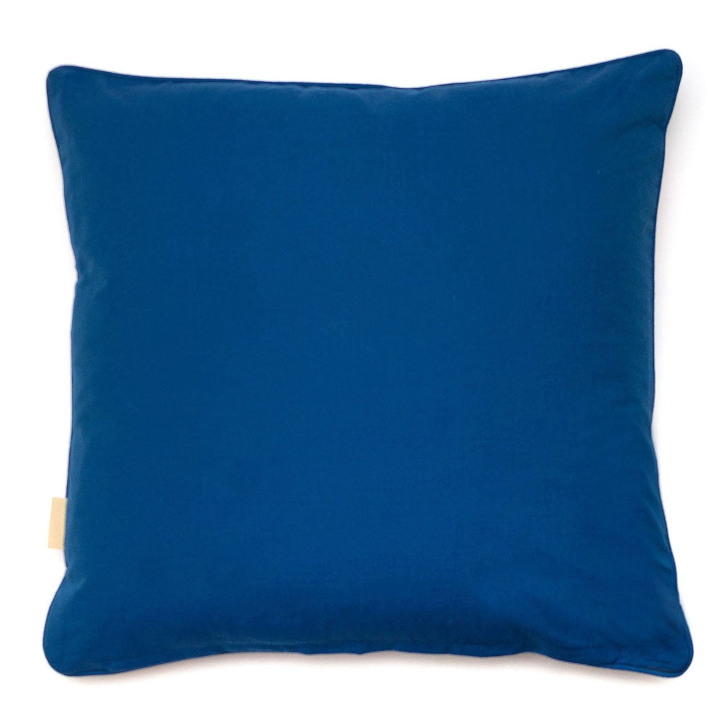 Blue Fantasy Kaleidoscope Velvet Square Cushion