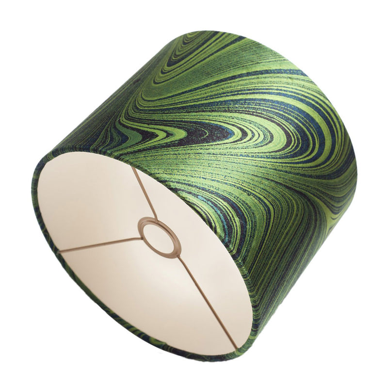 Malachite Marbled Velvet Lampshade