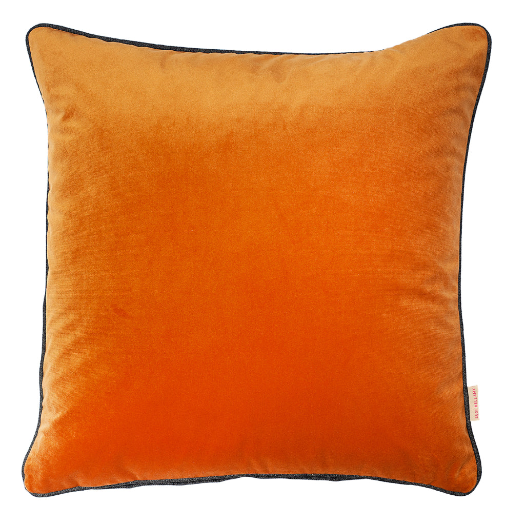 Nutmeg Velvet Square Cushion