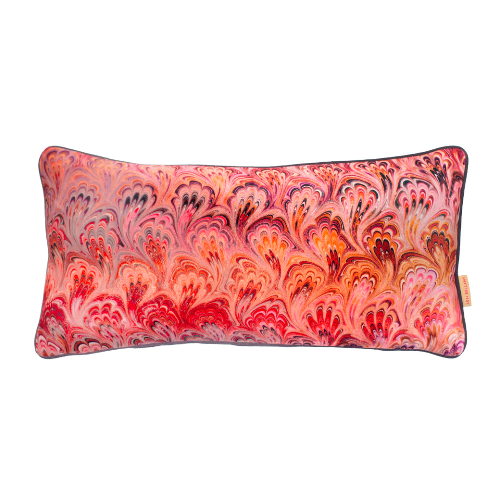 Blush Bouquet Velvet Medium Oblong Cushion