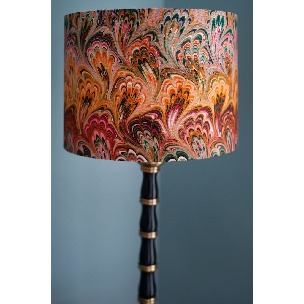 Peacock Bouquet Linen Lampshade