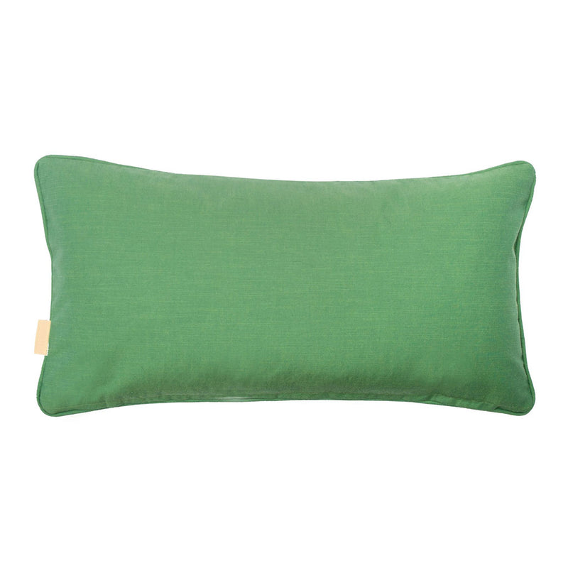 Green Fantasy Kaleidoscope Marbled Velvet Medium Oblong Cushion