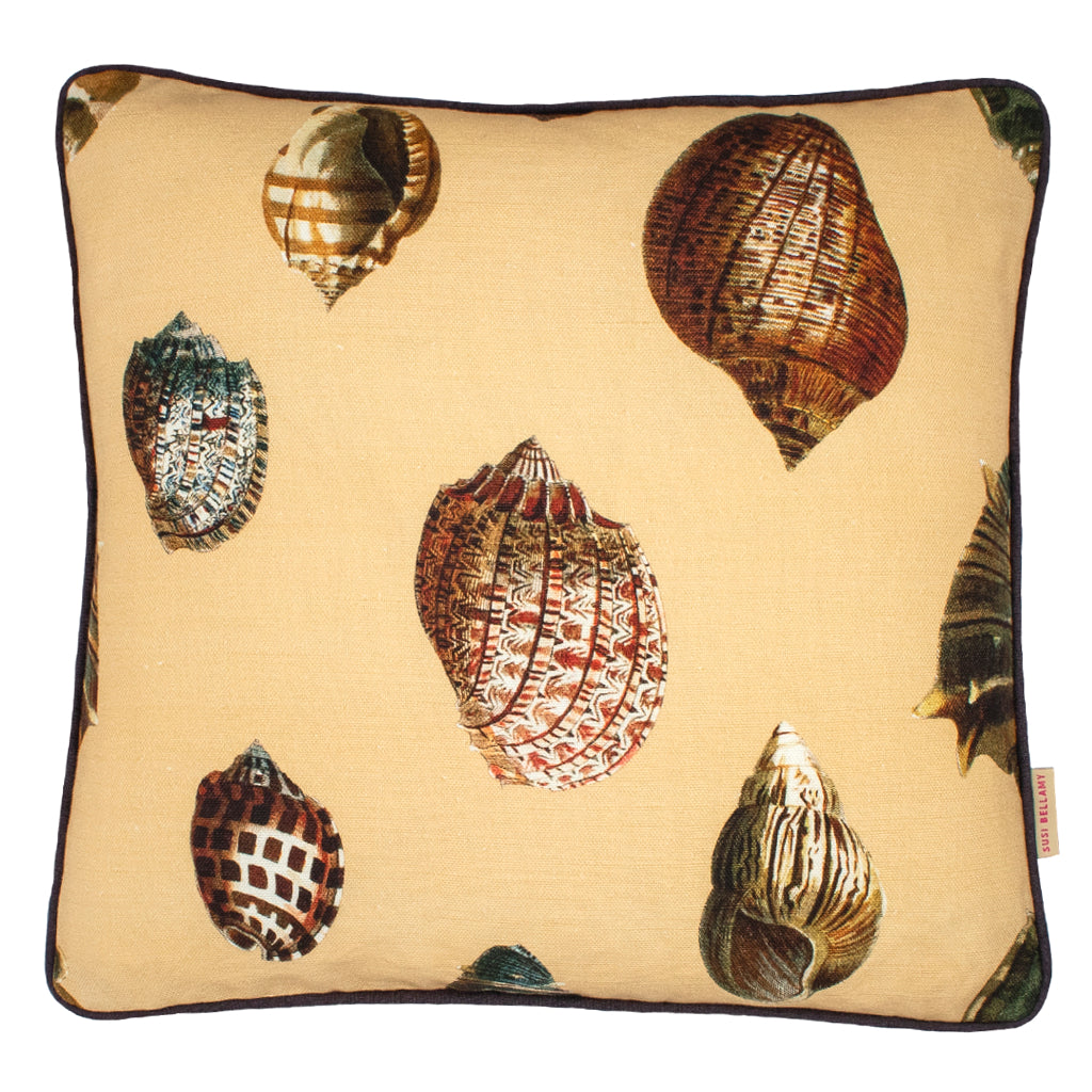 Sand Shells Linen Small Square Cushion