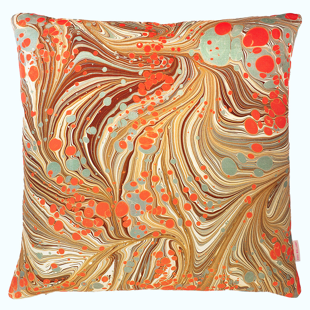 Sand Swirl Double-Sided Linen Large Square Cushion