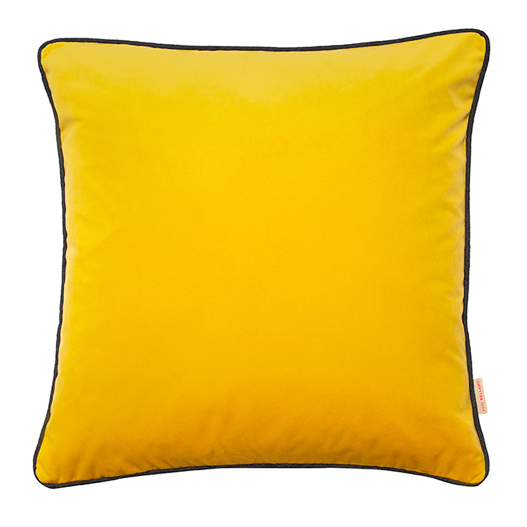 Chartreuse Yellow Velvet Square Cushion