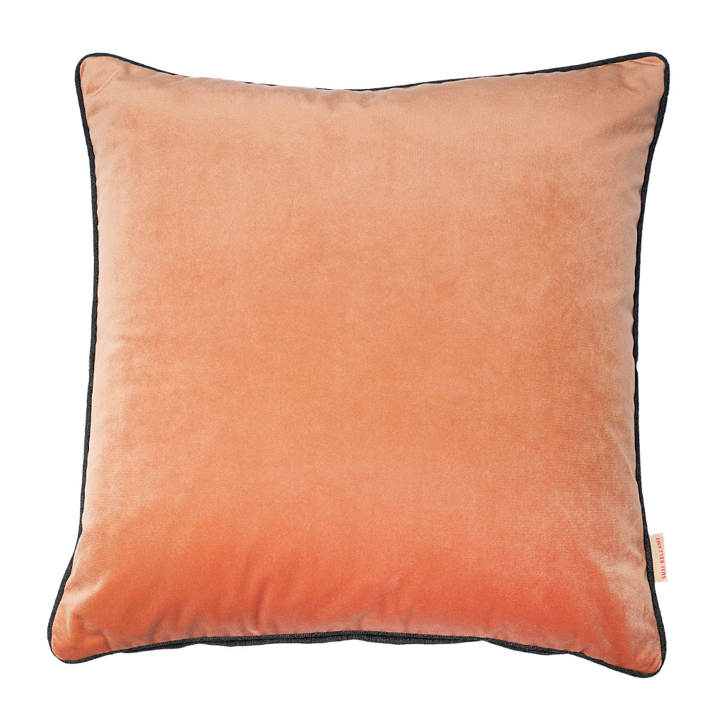 Tamarind Velvet Square Cushion