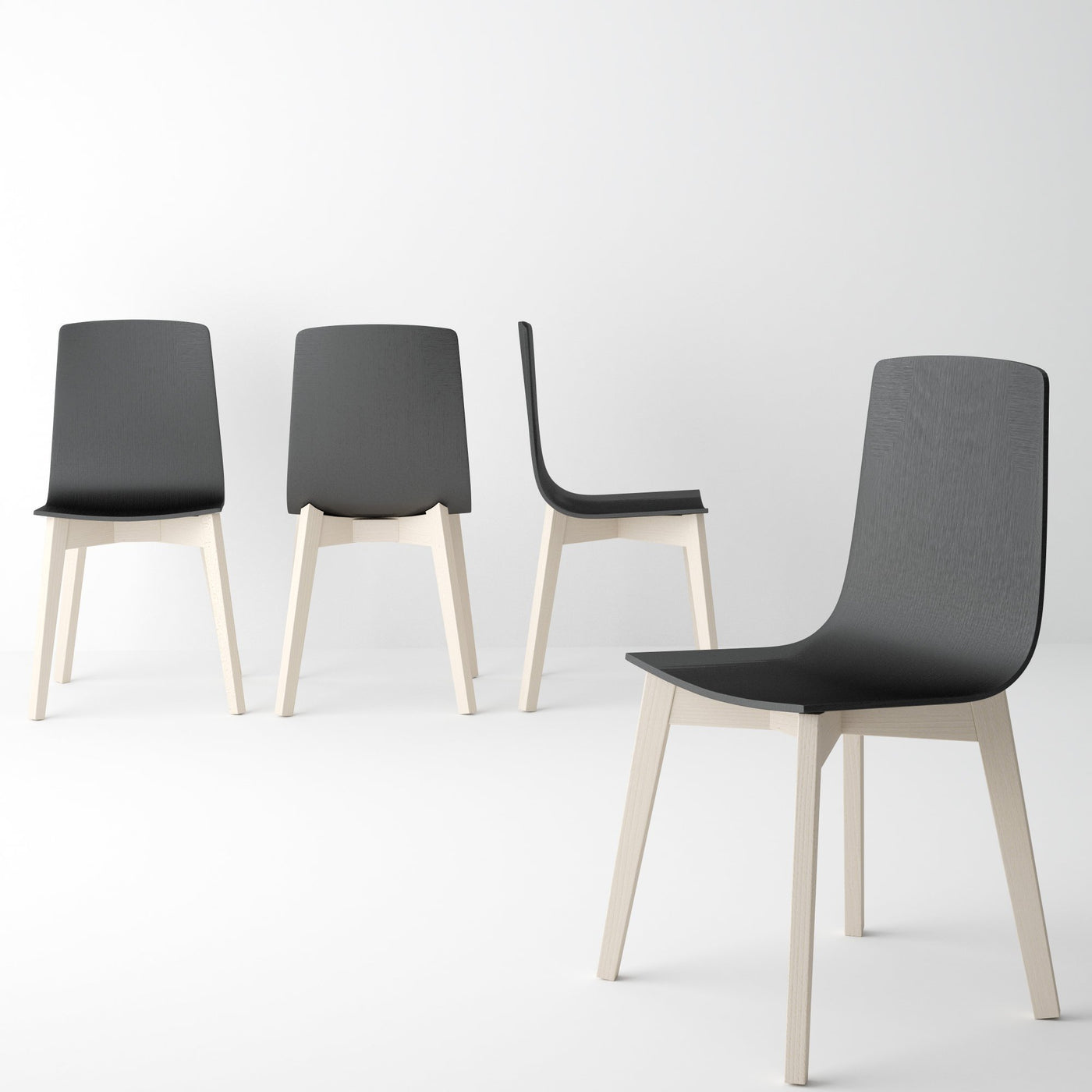 Enjoyable Eclipse Dining Chair Solid Beechwood Black Lacquered Seat Back And Bleached Legs Pabps2019 Chair Design Images Pabps2019Com